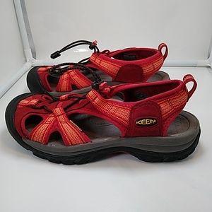 Keen Malibu Red Waterproof Sandals W7 / 24 cm